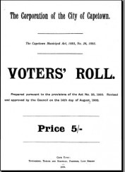 1902 Voters Roll Cape Town