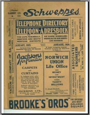 1929 Telephone Directory cover